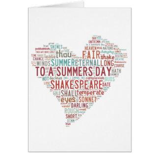Shakespeare Sonnet 18 Cards