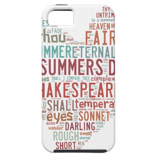Shakespeare Sonnet 18 iPhone 5 Covers