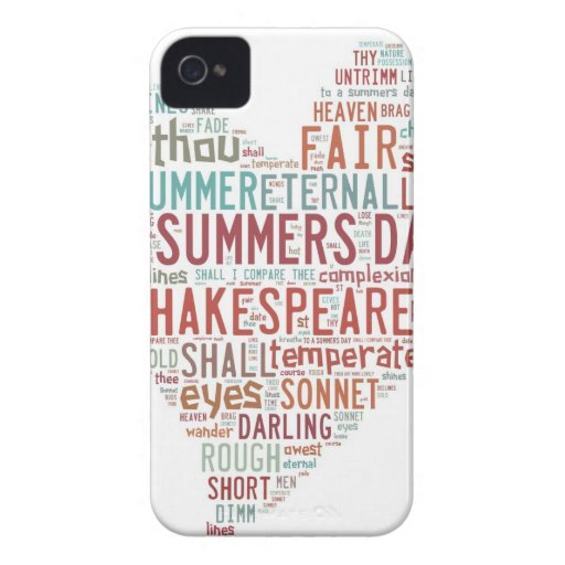 Shakespeare Sonnet 18 Case-Mate iPhone 4 Case
