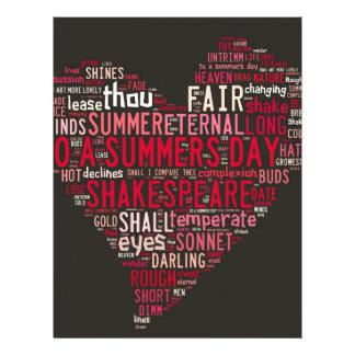 Shakespeare Sonnet 18 Custom Letterhead
