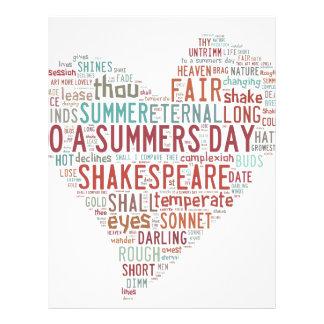 Shakespeare Sonnet 18 Customized Letterhead