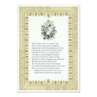 Shakespeare Sonnet # 18 Announcement