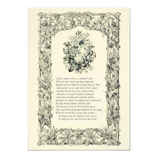 Shakespeare Sonnet # 18 Custom Announcement