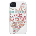 Shakespeare Sonnet 18 iPhone 4 Cover