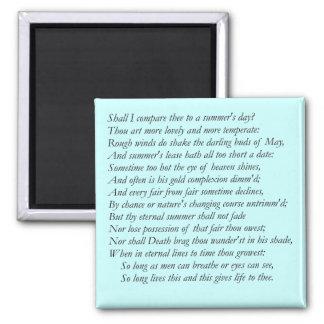 Shakespeare Sonnet # 18 Magnet