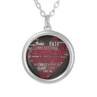 Shakespeare Sonnet 18 Custom Necklace