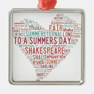 Shakespeare Sonnet 18 Christmas Ornament