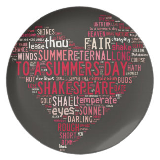 Shakespeare Sonnet 18 Party Plate