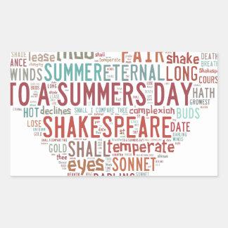 Shakespeare Sonnet 18 Rectangular Sticker