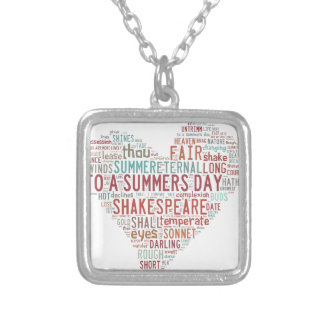 Shakespeare Sonnet 18 Silver Plated Necklace
