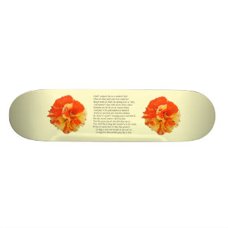 Shakespeare Sonnet # 18 Skateboard