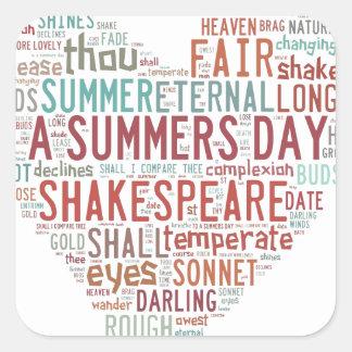 Shakespeare Sonnet 18 Square Sticker