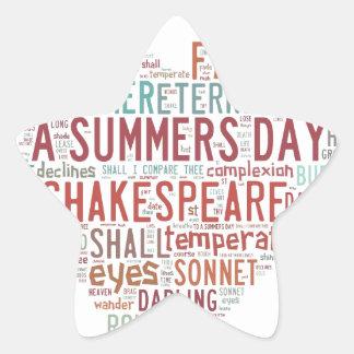 Shakespeare Sonnet 18 Star Sticker