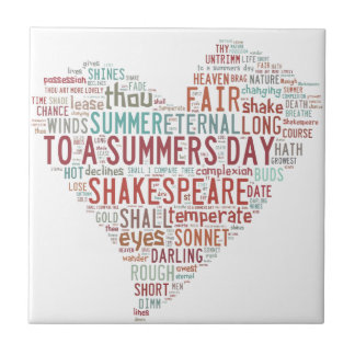 Shakespeare Sonnet 18 Tile