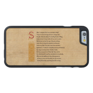 Shakespeare Sonnet 18 (XVIII) on Parchment Carved® Maple iPhone 6 Slim Case