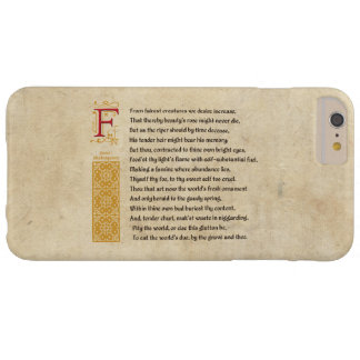 Shakespeare Sonnet 1 on Parchment Barely There iPhone 6 Plus Case