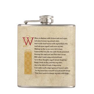 Shakespeare Sonnet 29 (XXIX) on Parchment Flasks