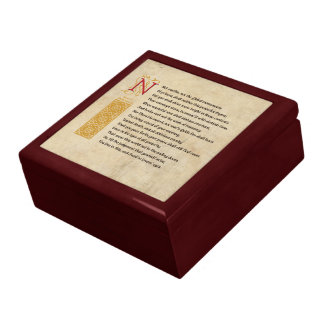 Shakespeare Sonnet 55 (LV) on Parchment Gift Box