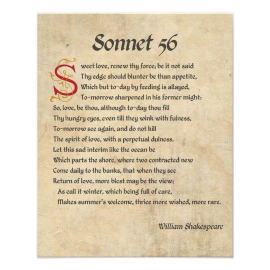 Shakespeare Sonnet 56 Parchment Photo Print