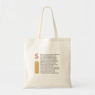 Shakespeare Sonnet 65 (LXV) on Parchment Bags