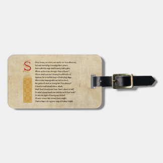 Shakespeare Sonnet 65 (LXV) on Parchment Luggage Tag