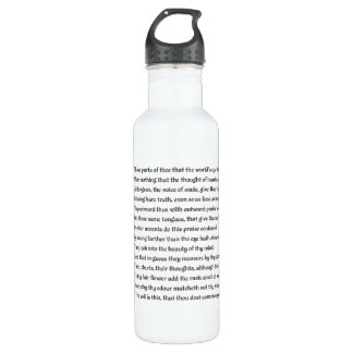 Shakespeare Sonnet 69 LXIX on Parchment Stainless Steel Water Bottle