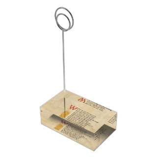 Shakespeare Sonnet 76 (LXXVI) on Parchment Place Card Holder