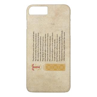 Shakespeare Sonnet 87 (LXXXVII) on Parchment iPhone 8 Plus/7 Plus Case