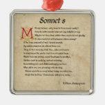 Shakespeare Sonnet 8 Parchment Christmas Ornament