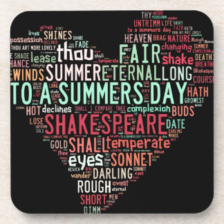 Shakespeare Sonnet Beverage Coaster