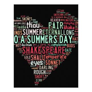 Shakespeare Sonnet Letterhead
