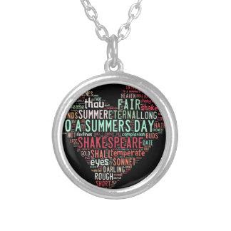 Shakespeare Sonnet Pendant