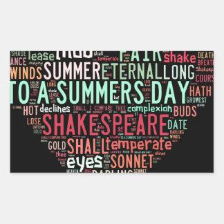 Shakespeare Sonnet Rectangular Sticker