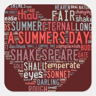 Shakespeare Sonnet Square Sticker