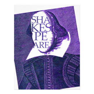 Shakespeare Stylized Sketch Personalized Letterhead