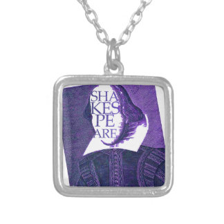 Shakespeare Stylized Sketch Personalized Necklace