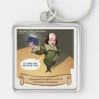 Shakespeare Takes Selfie Funny Keychain