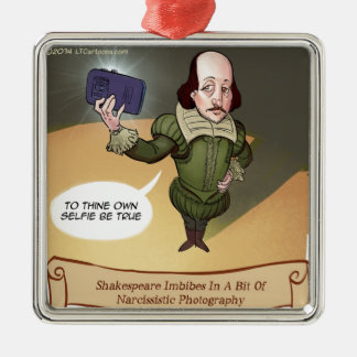 Shakespeare Takes Selfie Funny Metal Ornament