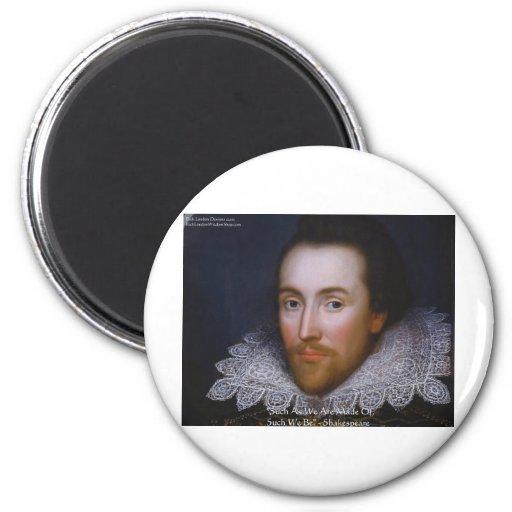 """Shakespeare """"tales seamos"""" regalos y camisetas de  imán de frigorifico"""
