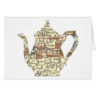 Shakespeare Teapot Stationery Note Card
