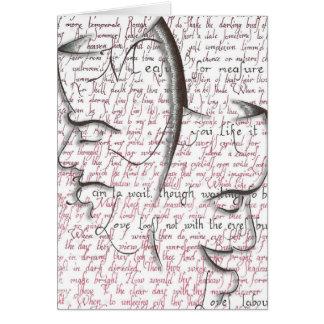 Shakespeare, teatro enmascara la tarjeta de