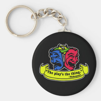 Shakespeare: The Play's The Thing Basic Round Button Keychain
