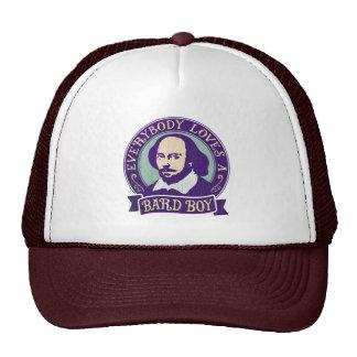 Shakespeare todos ama a un muchacho del bardo gorro