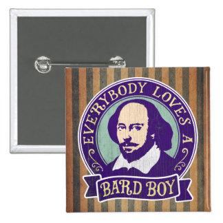 Shakespeare todos ama a un muchacho del bardo pin cuadrado