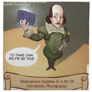 Shakespeare toma Selfie divertido Servilleta