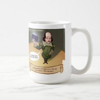 Shakespeare toma Selfie divertido Taza De Café