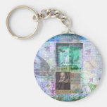 Shakespeare whimsical LOVE quote Keychains