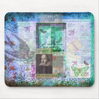 Shakespeare whimsical LOVE quote Mouse Pad