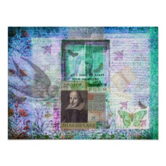 Shakespeare whimsical LOVE quote Poster