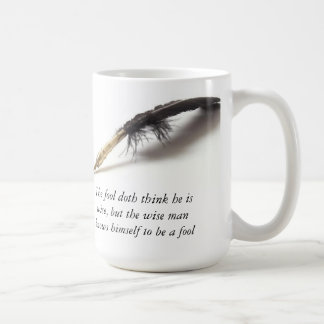 Shakespeare | Wise Fool Classic White Coffee Mug